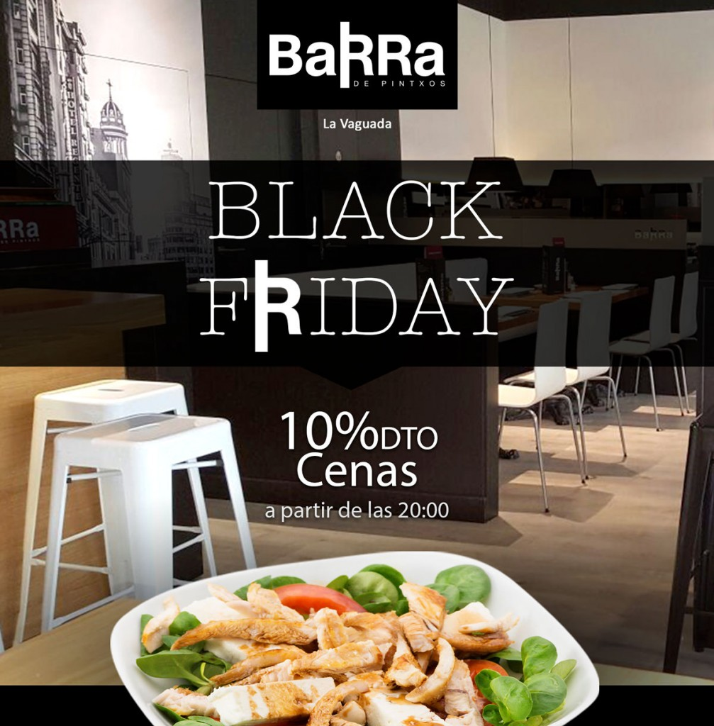 barra black friday vaguada